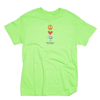 Mens Peace, Love, Palmetto and Moon T-Shirt - ADI01146