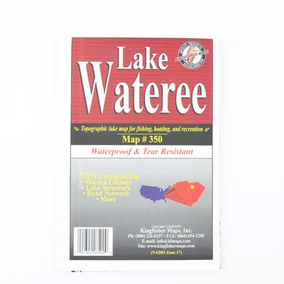 Topographic Map of Lake Wateree - ADI01171