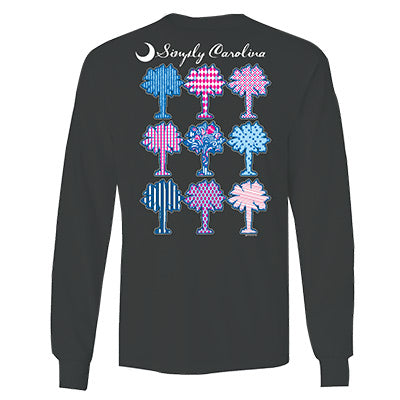 Simply Carolina Bow Tie  Long Sleeve T-Shirt - ADI01214