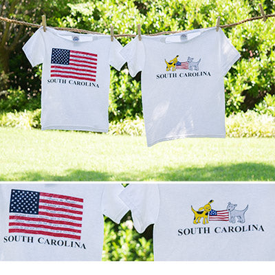 American Puppies Flag  T-Shirt Youth - ADI01307