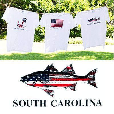 American Flag Striper Bass T-Shirt - ADI01308