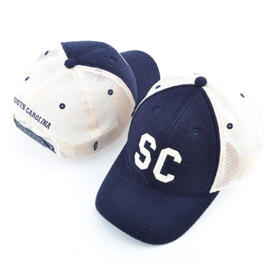 South Carolina Classic Block Wool Trucker Cap - ADI01310