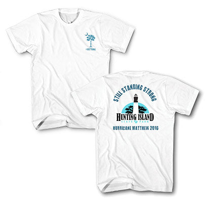 Hunting Island Hurricane Matthew 2016 Adult T-Shirt - ADI01473