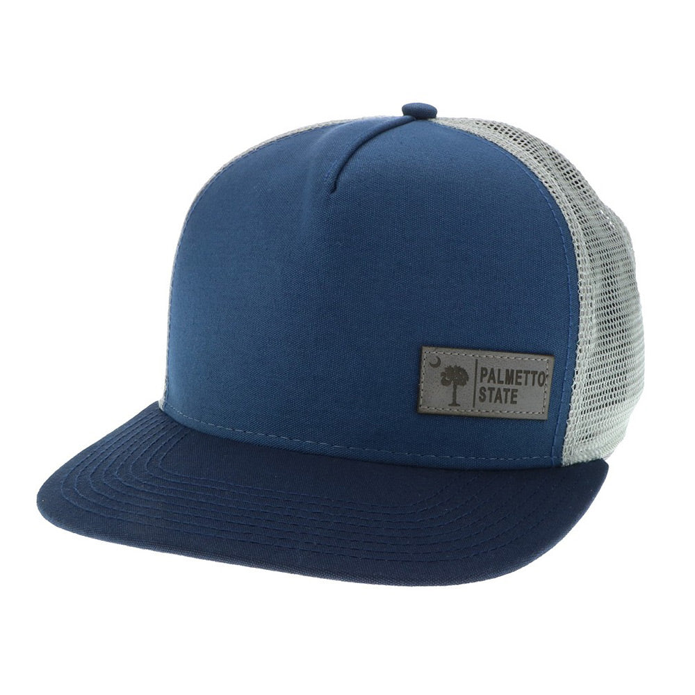 Palmetto & Moon Flat Brim Snap Back - ADI01542
