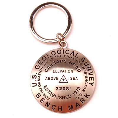 Caesars Head Bench Mark Key Chain