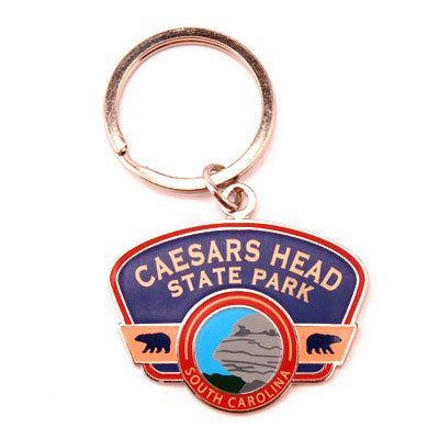 Retro Caesars Head State Park Key Chain - CAEI01691