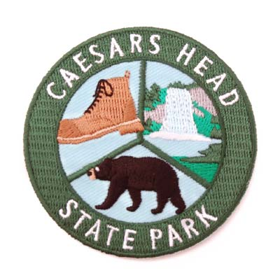 State Park Round Iron-On-Patch - CAEI01693