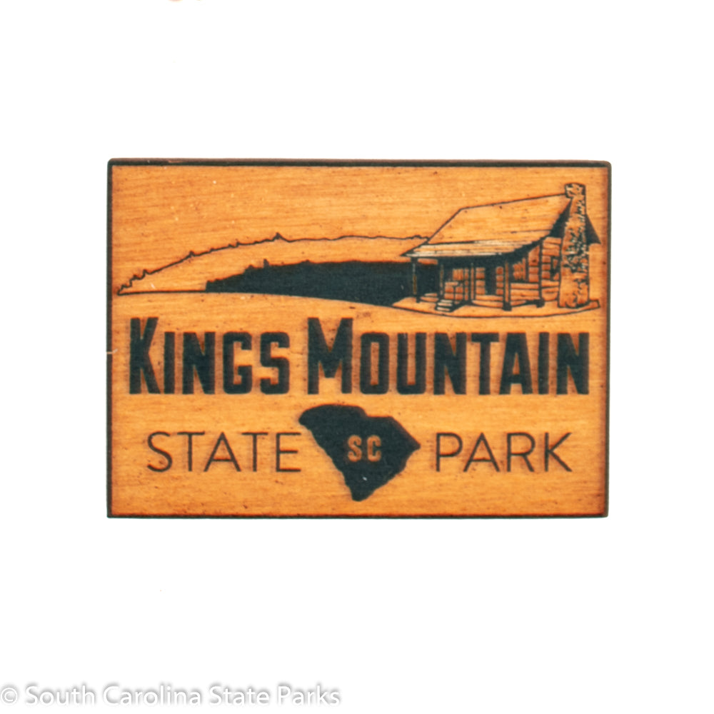 Kings Mountain State Park Wooden Logo Magnet