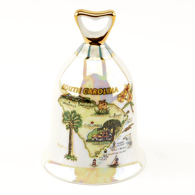 Souvenir Collectible South Carolina Map Bell - HILI0000232