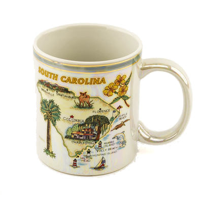 Souvenir Collectible South Carolina  Map Mug - HISI0001473