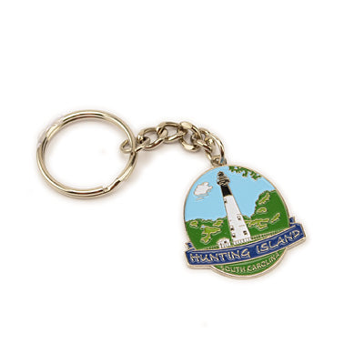 Hunting Island Lighthouse Enamel Key Chain - HISI0005287