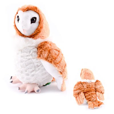"12"" Stuffed Animal Barn Owl - HKSI001428"