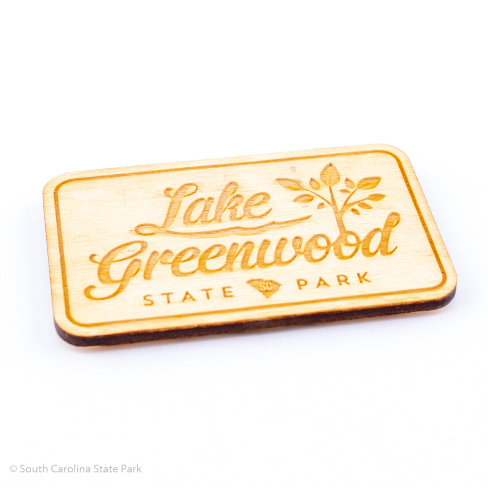 Lake Greenwood Wooden Magnet- South Carolina State Park