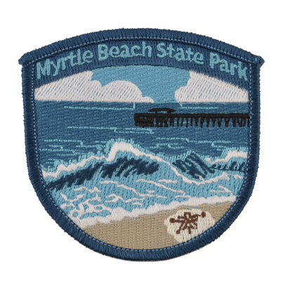 Myrtle Beach State Park Pier Iron-On Patch - MBPI01177
