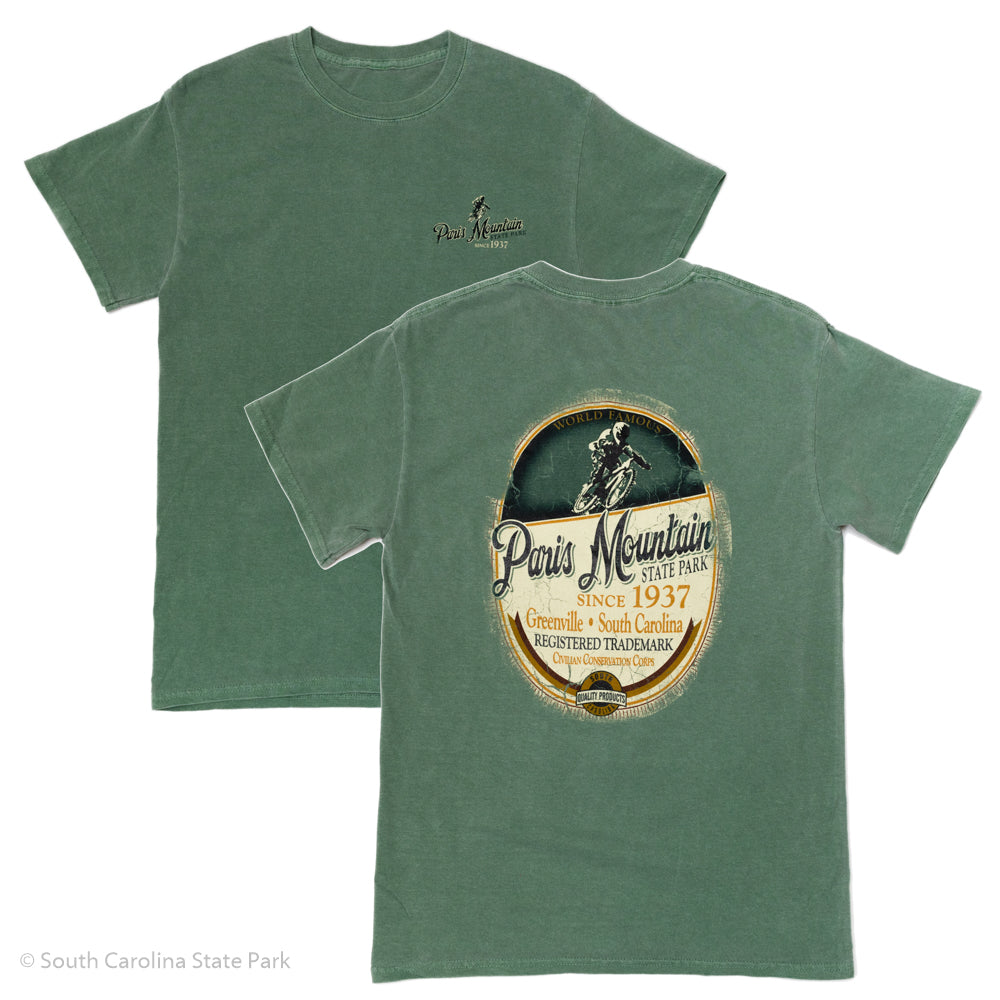 Men's Paris Mountain Hiking & Biking Since 1937 T-Shirt - ADI00732