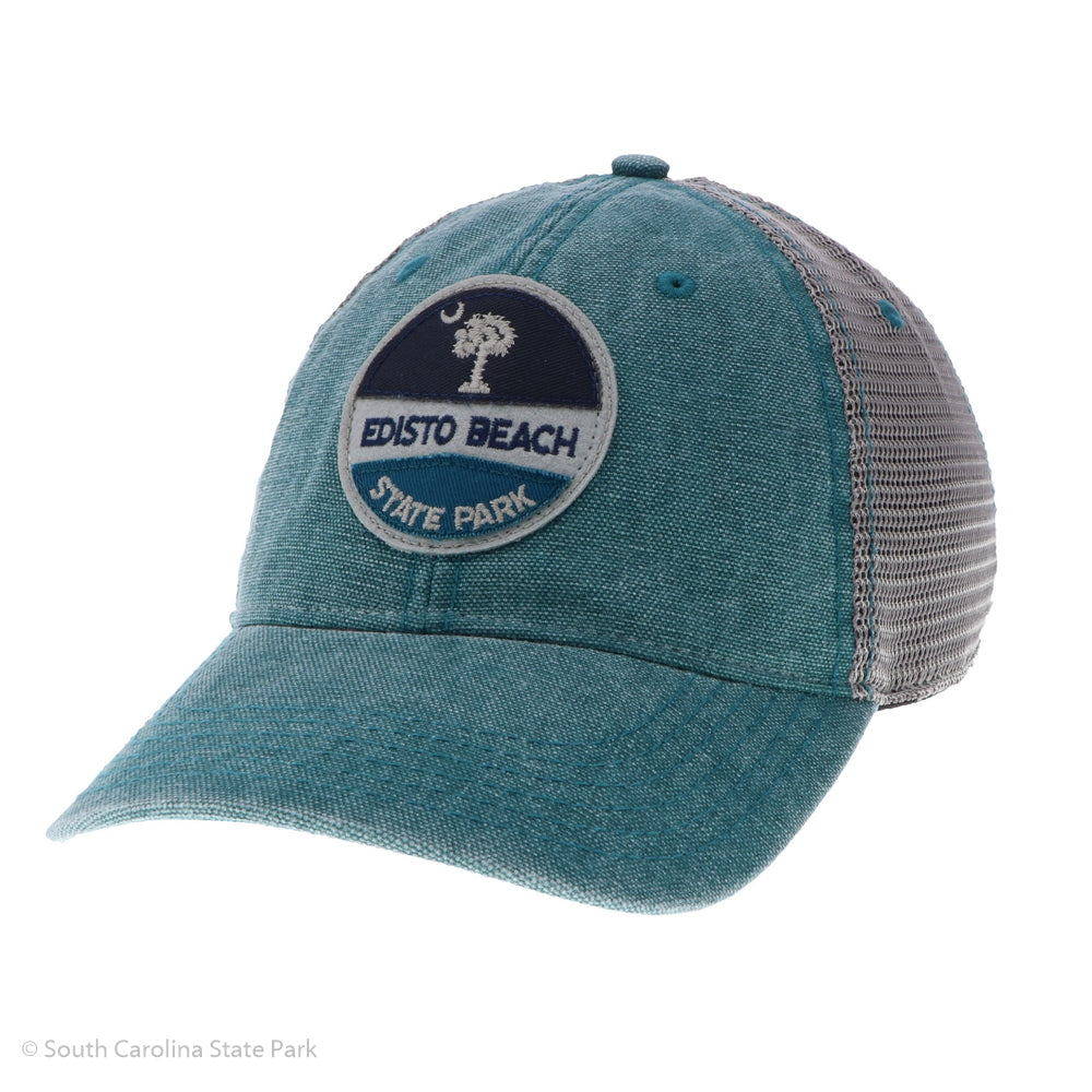 Edisto Beach Circle Patch Palmetto and Moon Hat - ADI01819