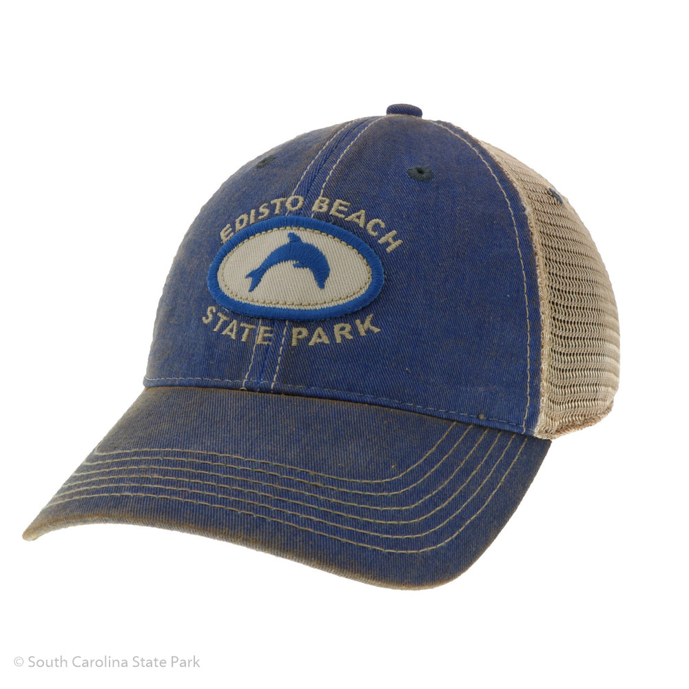 Edisto Beach Dolphin Patch Hat - ADI01820