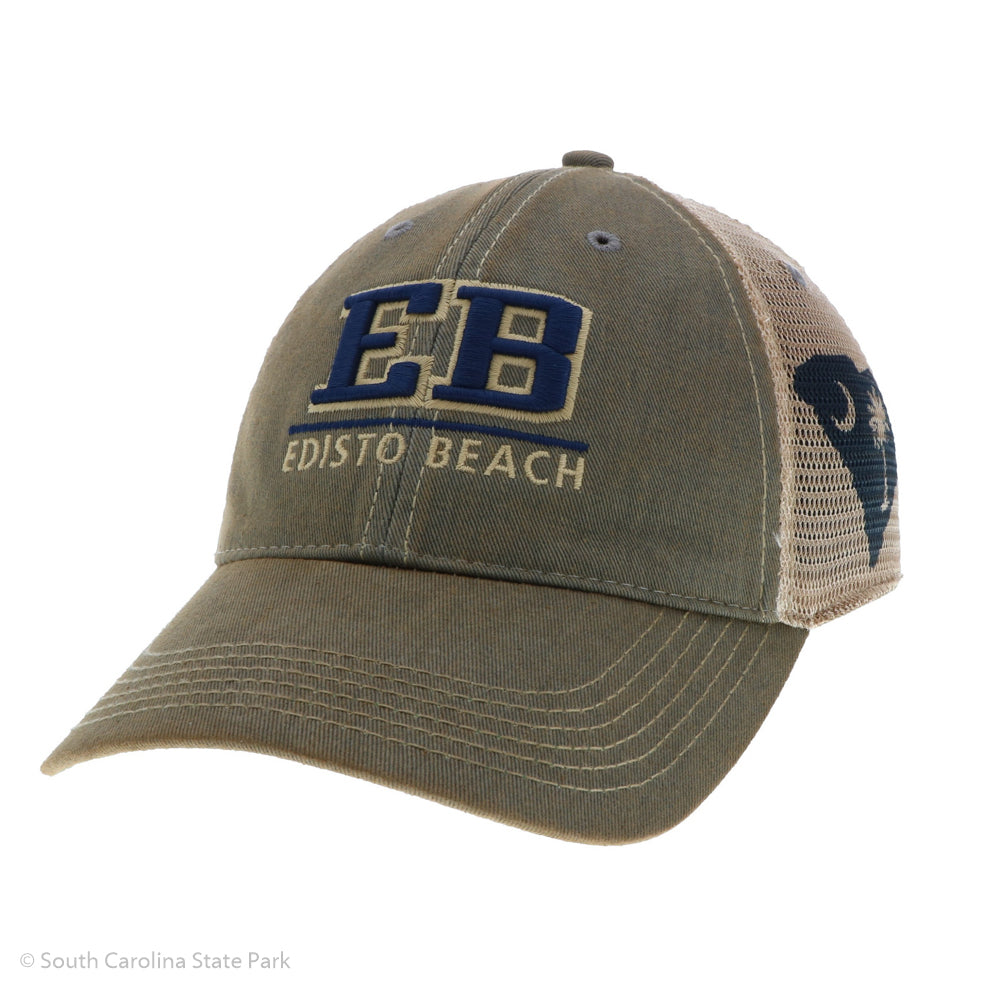 Edisto Beach Block Shape of The State Hat - ADI01824