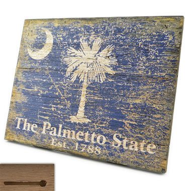 Wooden Palmetto State Sign - SH01389