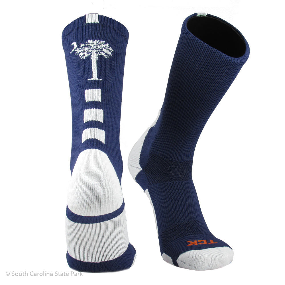 Palmetto and Moon Logo Performance Socks - South Carolina State Parks