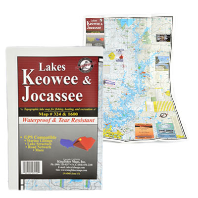 Devils Fork State Park  Lake Jocassee and Lake Keowee Waterproof Map