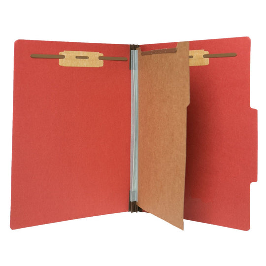 Partition Letter Sized Folders (1 Division with Fasteners)