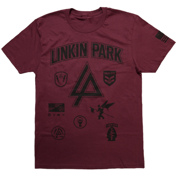 LP Patches Burgundy Tee