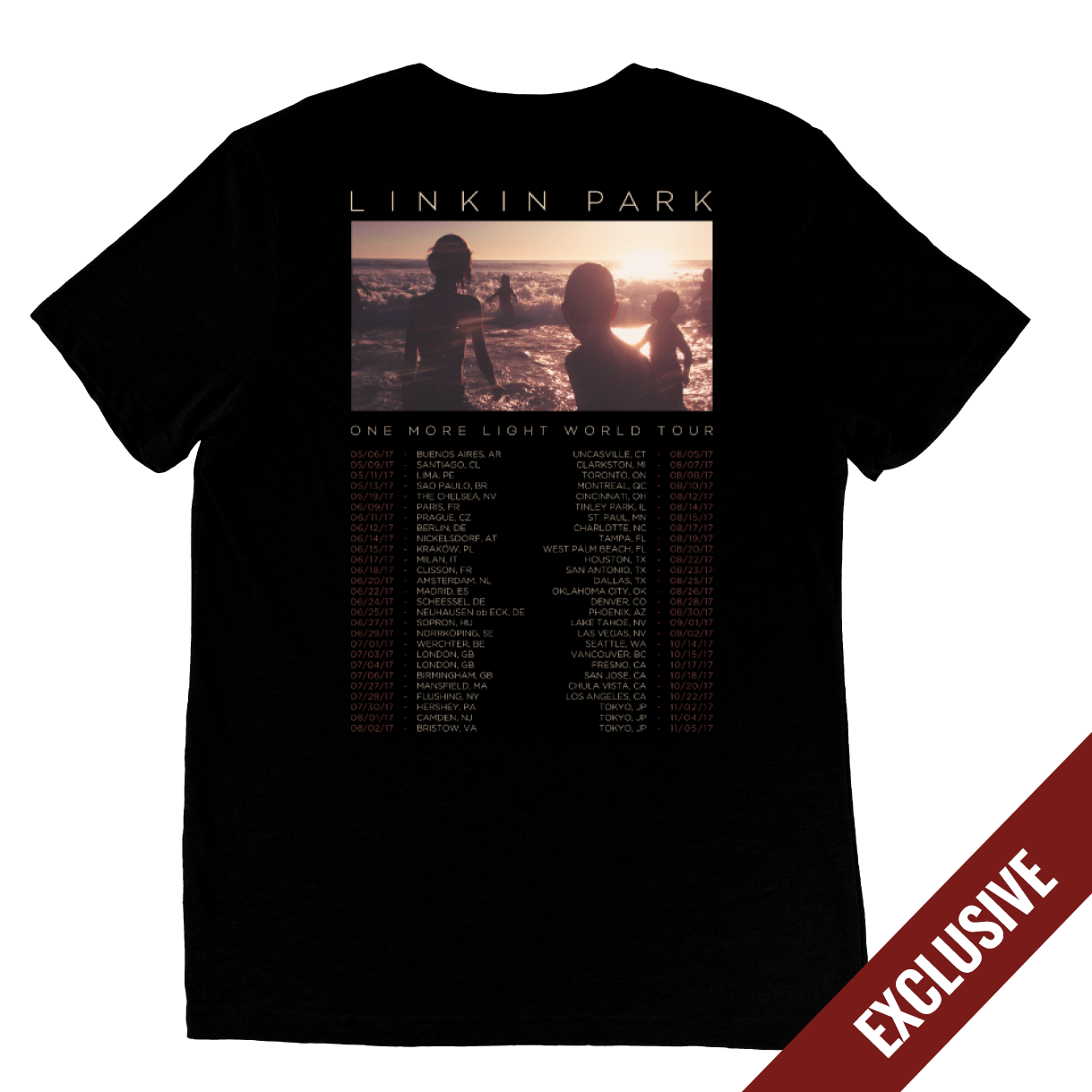 2017 One More Light World Tour Tee Linkin Park Store