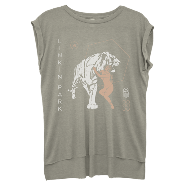 Lady Tiger Rolled Cuff Tee