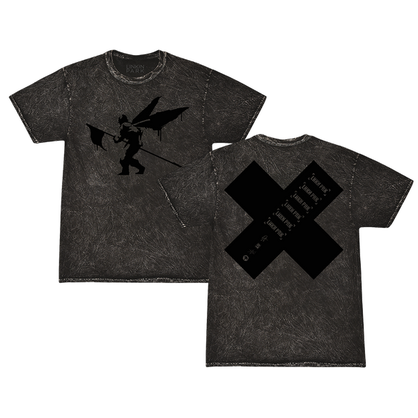 Side Street Soldier X Black Mineral Wash Tee