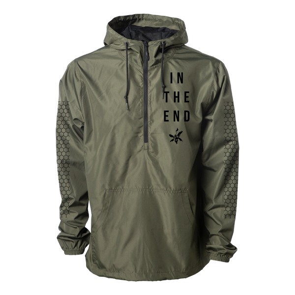 ITE Army Green Pullover Anorak Windbreaker