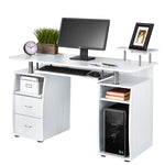 Fineboard Home Office Computer Desk, White