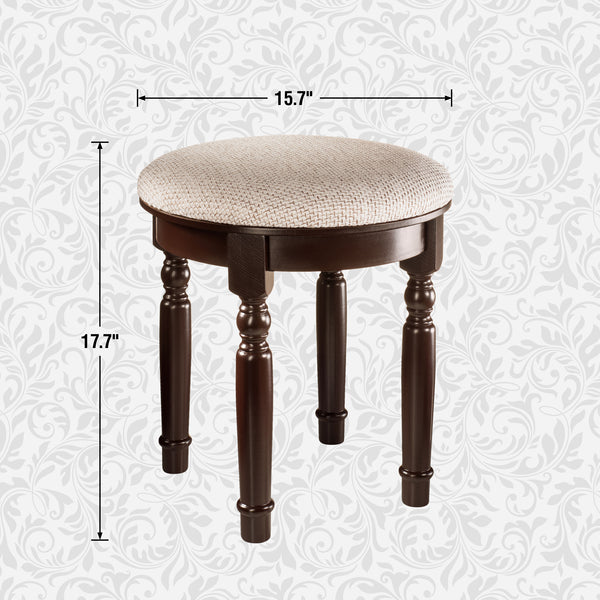 Stupendous Finebaord Round Luxury Vanity Stool For Vanity Tables Makeup Dressing Tables Piano Black Short Links Chair Design For Home Short Linksinfo
