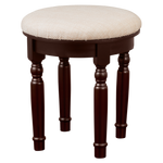 Finebaord Round Luxury Vanity Stool for Vanity Tables Makeup Dressing Tables Piano, Brown