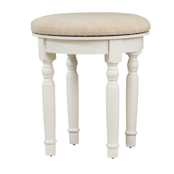 Finebaord Round Luxury Vanity Stool for Vanity Tables Makeup Dressing Tables Piano, White