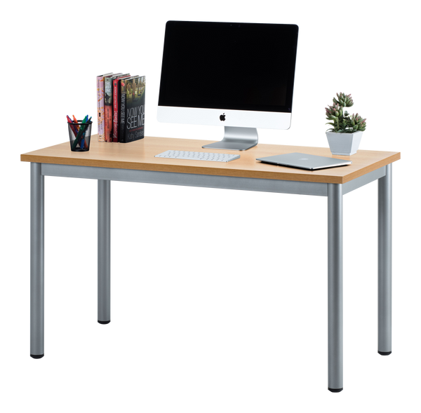 fineboard 47 home office computer desk writing table beige gray