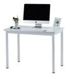 "Fineboard 39"" Home Office Computer Desk Writing Table, White + White Legs"