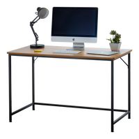 "Fineboard 47"" Home Office Computer Desk Writing Table, Beige + Black Legs"