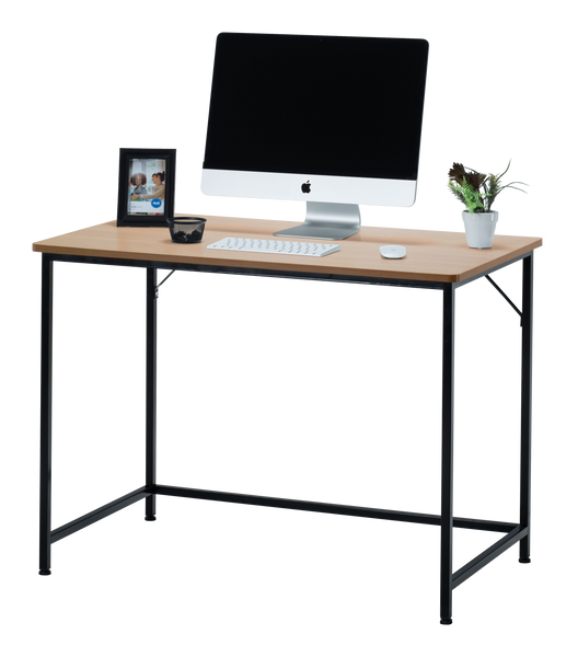 "Fineboard 39"" Home Office Computer Desk Writing Table, Beige + Black Legs"