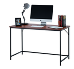 "Fineboard 47"" Home Office Computer Desk Writing Table, Teak + Black Legs"