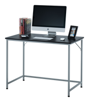 "Fineboard 39"" Home Office Computer Desk Writing Table, Black + White Legs"