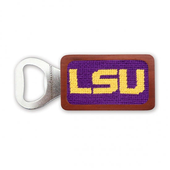 LSU Needlepoint Bottle Opener - Onward Reserve