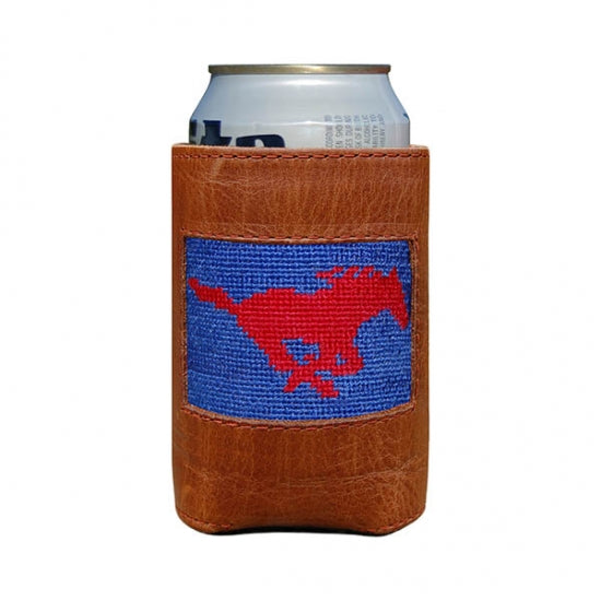 SMU Needlepoint Can Cooler