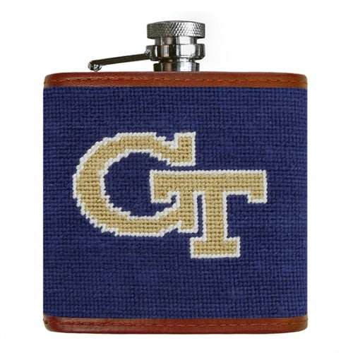 Georgia Tech Needlepoint Flask