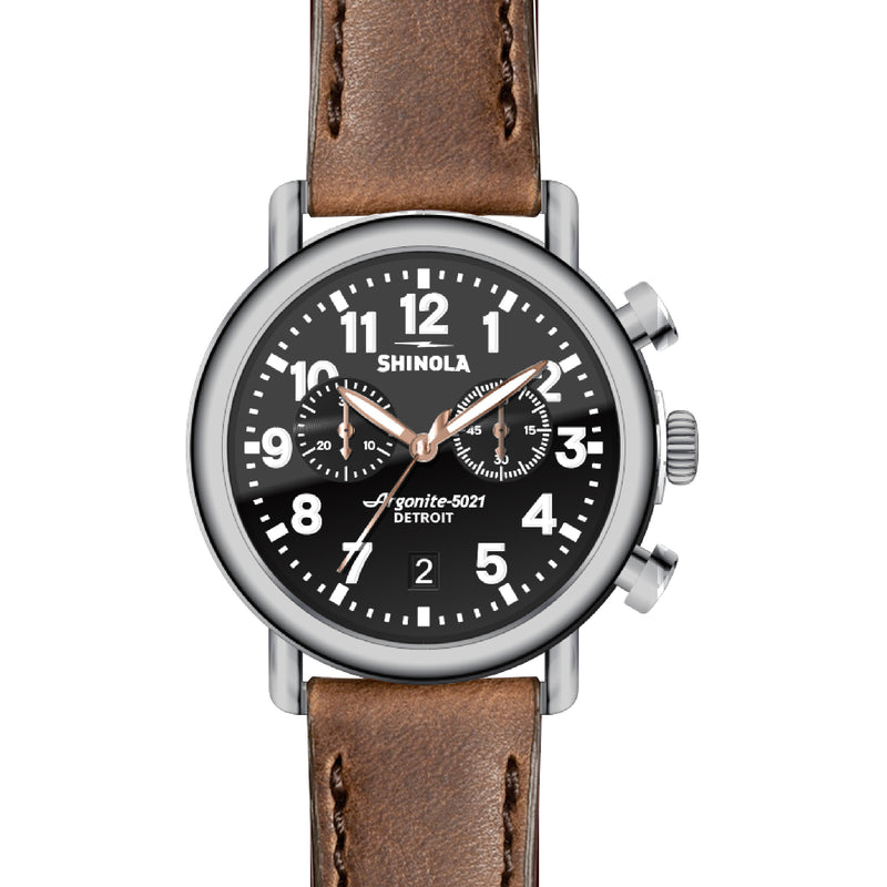 Runwell Black/Brown Chrono 41mm - OnwardReserve