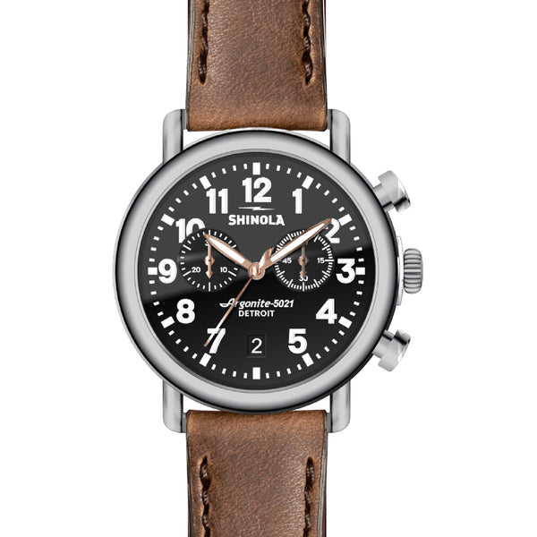 Runwell Black/Brown Chrono 41mm - Onward Reserve