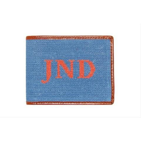 Custom Needlepoint Wallet - Block