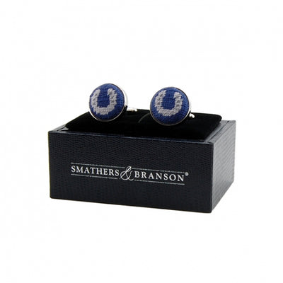 Horseshoe Needlepoint Cufflinks