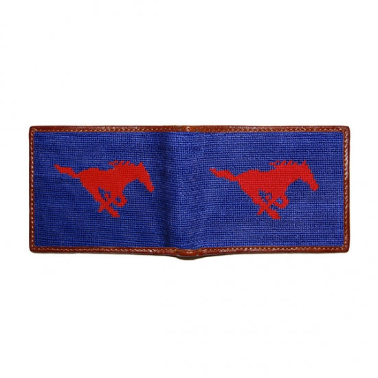 SMU Needlepoint Bi-Fold Wallet - Onward Reserve