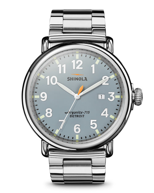 The Runwell Slate Blue/Stainless Steel 47mm - Onward Reserve